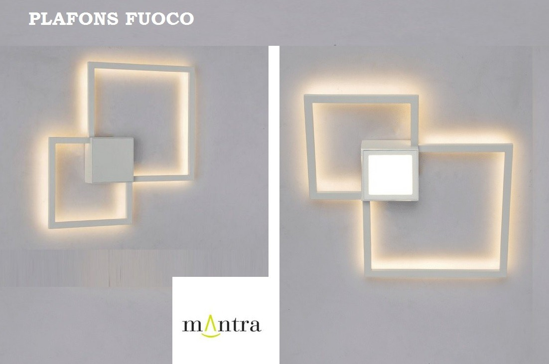 ARANDELA FUOCO FIT LED 3000K BRANCA - 30507/30508 MANTRA