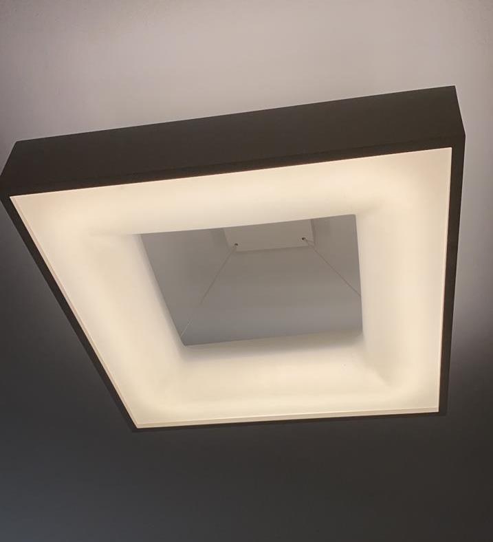 PLAFON BELIZE LED 36,8W 4000K 48X48CM BIVOLT - 19010/48LED4BT USINA DESIGN