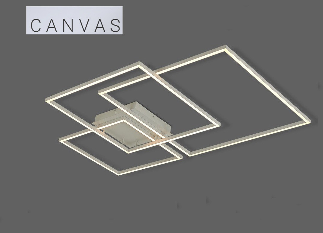 PLAFON CANVAS LED 116W 3000K BRANCO - DN38032 OPUS