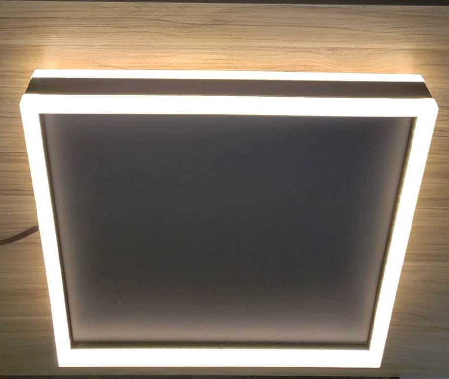 PLAFON DUO PRETO LED 50W 3200K 40X40CM BIVOLT - XT4040P CINDERELA DECOR