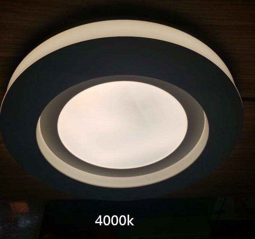 PLAFON MOSCOU LED 24W 3000K, 4000K E 6000K 41X7,5CM BIVOLT - LY-8745M BC