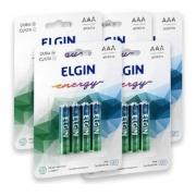 20 Pilha Alcalina AAA Elgin Energy Lr3 1,5v (5x4)