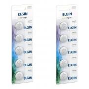 2 Cartela Com 5 Baterias Moeda Cr2032 3v Pilha Lithium Elgin