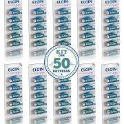 50 Baterias Alcalinas Elgin A23 12v 1 Caixa