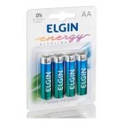 80 Pilha Alcalina AA - Elgin Lr6