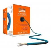 Caixa De Cabo Azul Cftv 300 Metros 4 Pares  Plus Cable