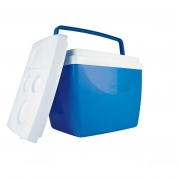 Caixa Térmica Azul Branco 34L Até 50 Latinhas Cooler Mor