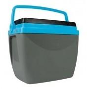 Caixa Térmica Cinza Azul 34L Até 50 Latinhas Cooler Mor