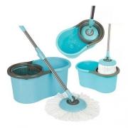 Esfregão Balde Mop Giratório Pocket Limpeza Prática 8l Mor