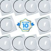 Kit Com 10 Ralos Inteligentes Click Up Clic 15x15 Inox