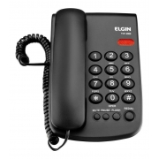 Telefone Fixo Elgin Tcf 2000 Preto Parede Mesa