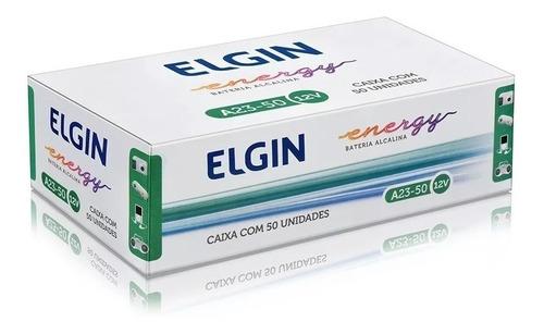 50 Pcs Pilha Elgin 12v A23 Original Controle Portão Alarme