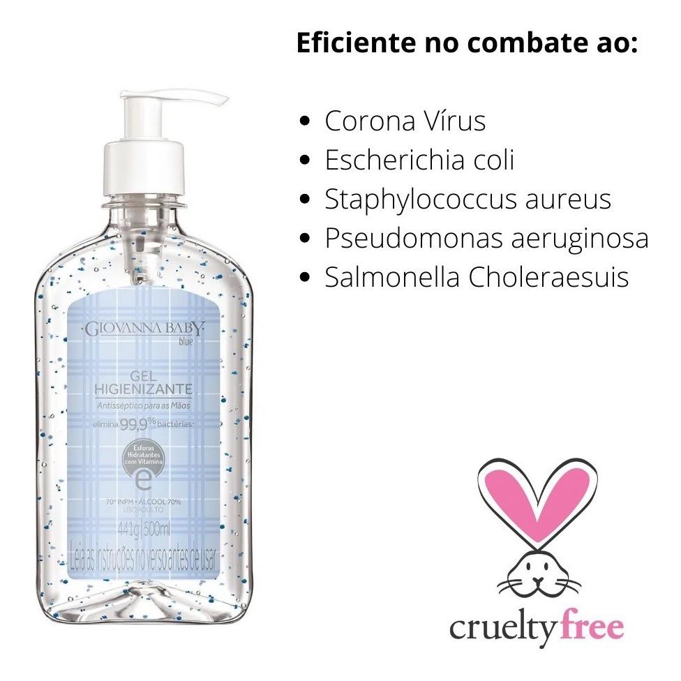 Álcool Gel 70% Giovanna Baby Higienizante Hidratante 500ml