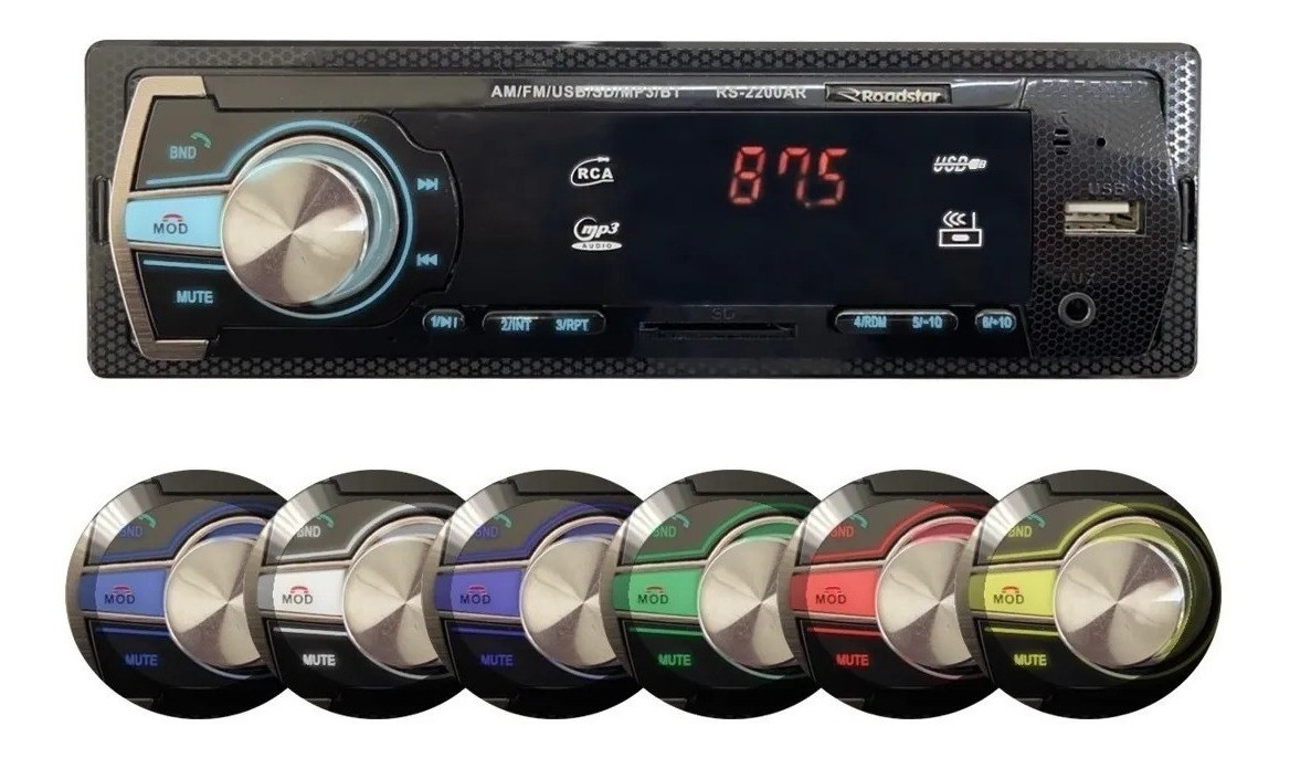 Auto Radio Painel Fixo Bluetooth Am Fm 2200 Roadstar