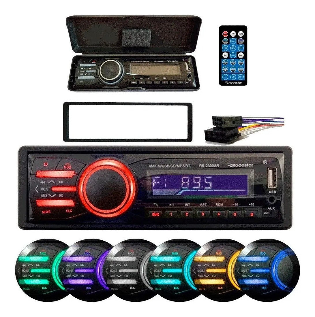 Auto Radio Som Automotivo Painel Destacável Bluetooth Am Fm
