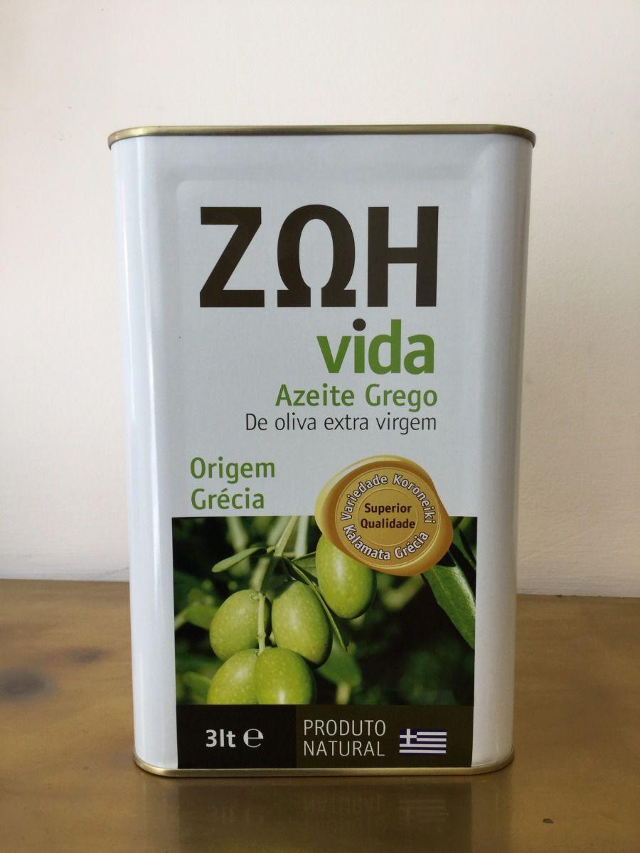 Azeite Grego Zoh 3 Litros Natural E Anti Oxidante