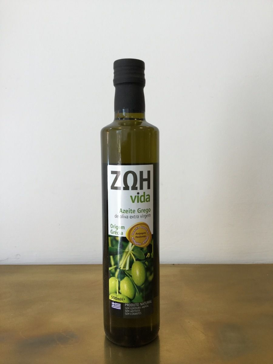 Azeite Grego Zoh 500 Ml Natural E Anti Oxidante