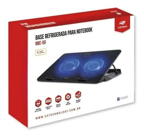 Base Notebook Ergonômica Refrigeração 15,6 Nbc-50bk C3 Tech