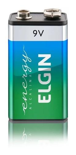 Bateria Alcalina 9v Elgin 6lr61 Blister Com 1