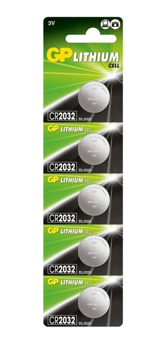 Bateria Cr2032 Gp Lithium C/ 5 Unidades