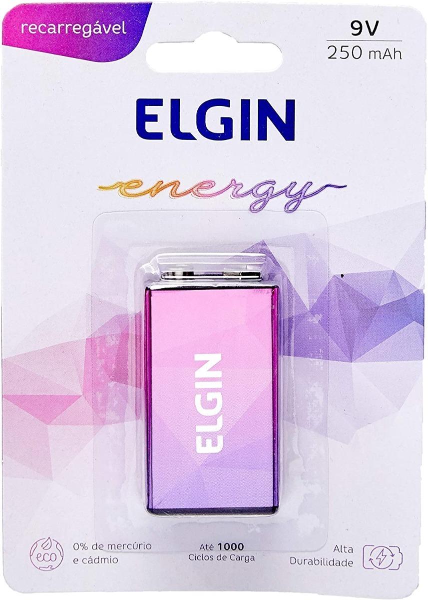 Bateria Recarregável 9v 250Mah 82215 Elgin