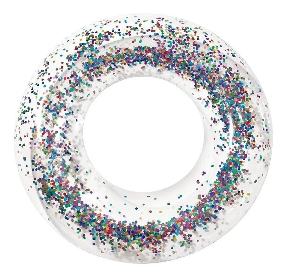 Boia Glitter Redonda Inflavel Grande 91cm Mor