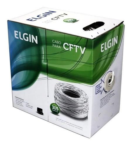 Cabo De Rede Ethernet Internet 305 Metros Elgin Branco
