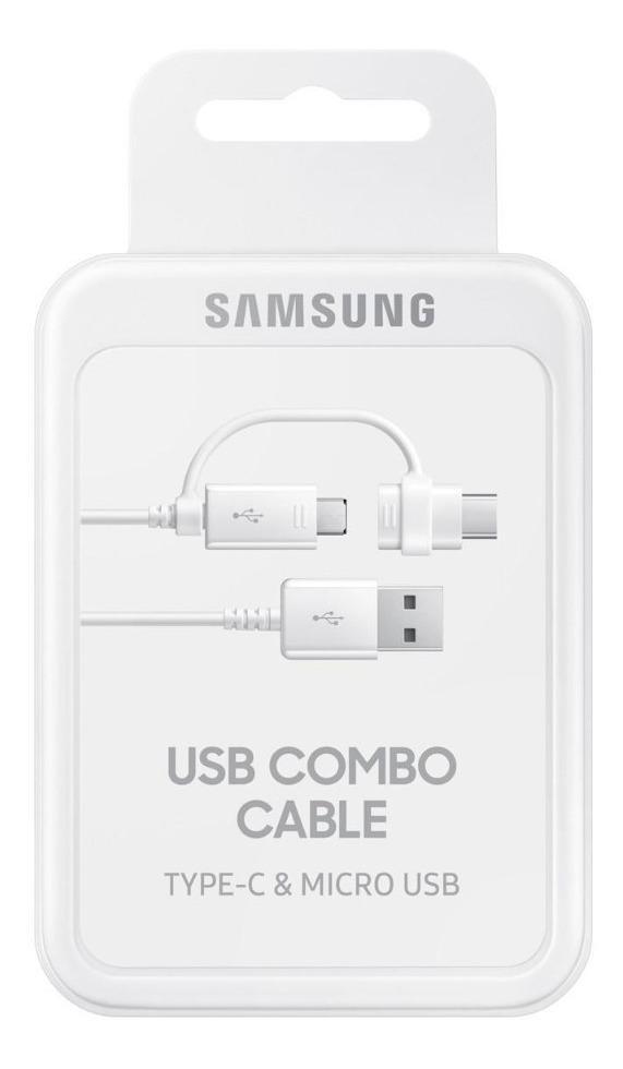 Cabo Samsung Micro Usb Com Adaptador Tipo C Original