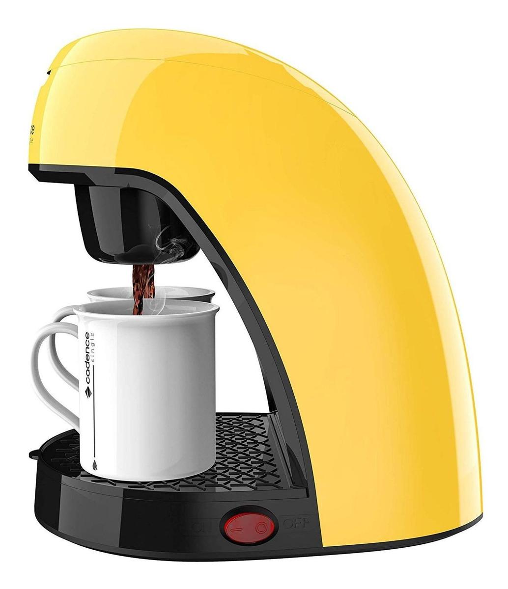 Cafeteira Cadence Single Colors Caf21 Amarelo