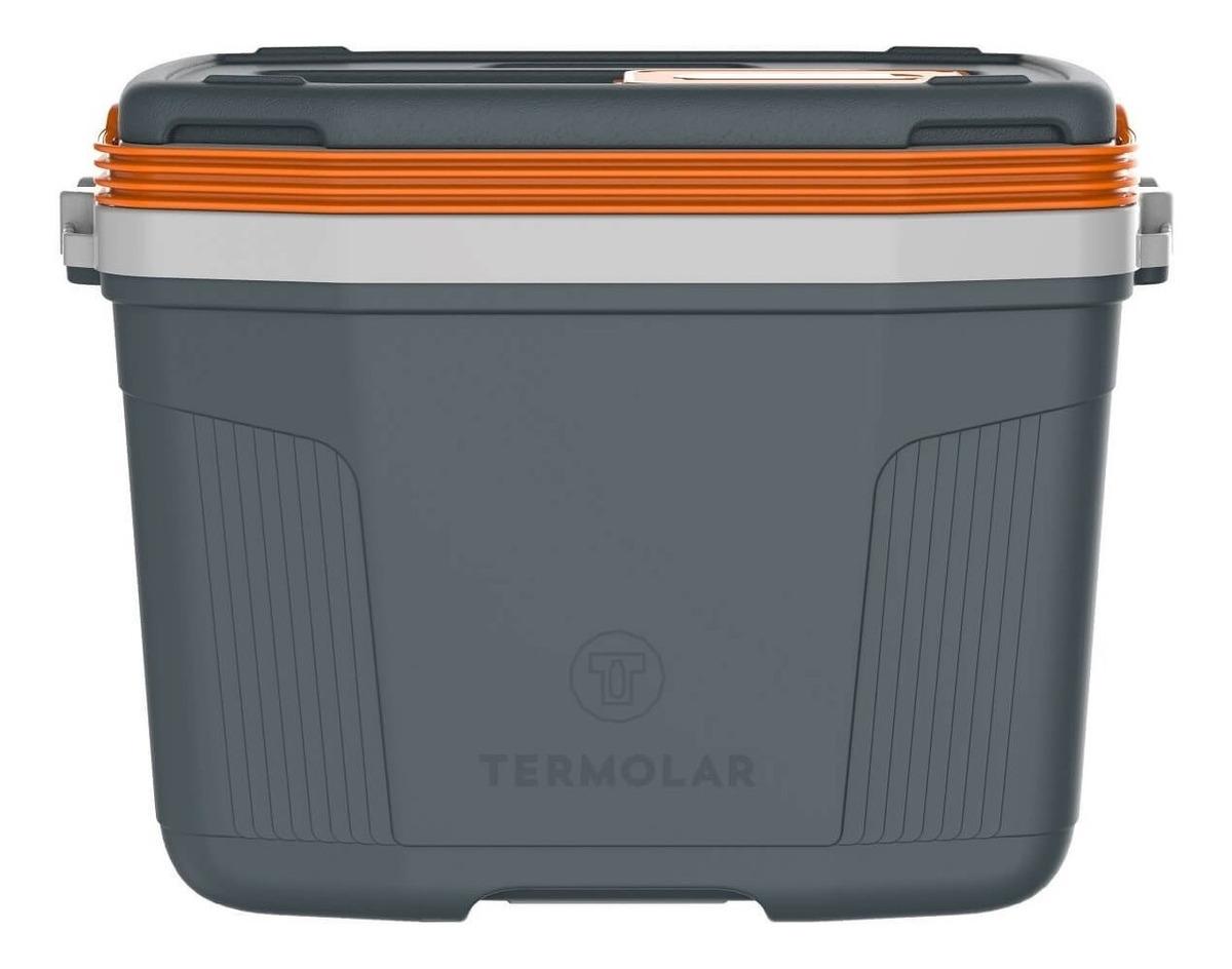 Caixa Térmica Cooler 32 Litros Suv Cinza Laranja - Termolar
