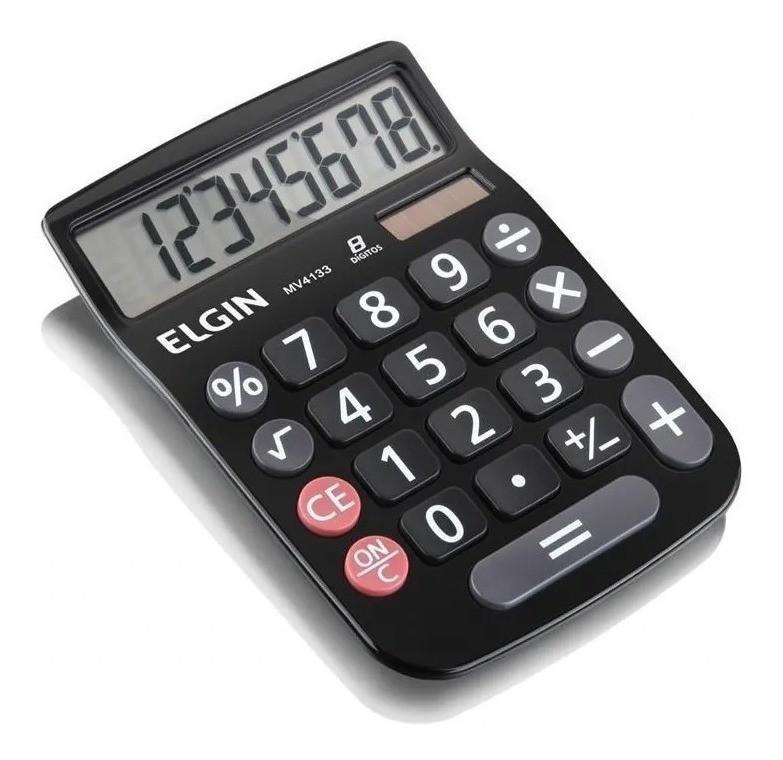 Calculadora Eletrônica de Mesa 8 Digítos Mv4133