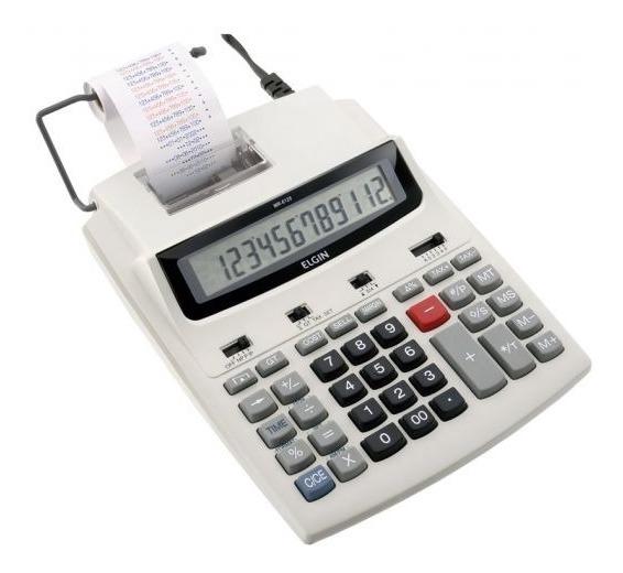 Calculadora Elgin Eletrônica E Impressora 12 Dígitos Mr 6125