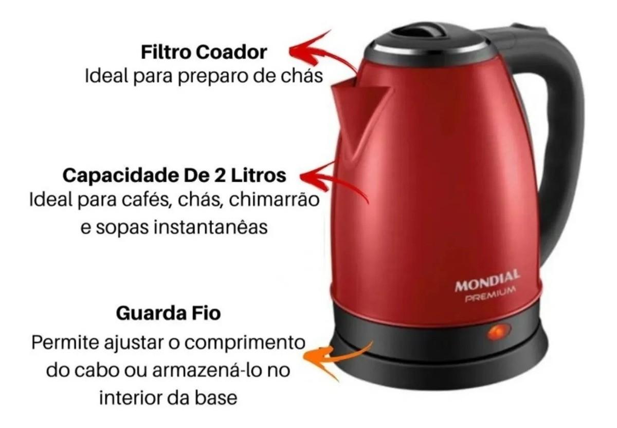 Chaleira Elétrica Premium 2 Litros 127v Ce-06 Mondial