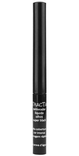 Delineador Líquido Para Olhos Tracta Super Black Cor Preto