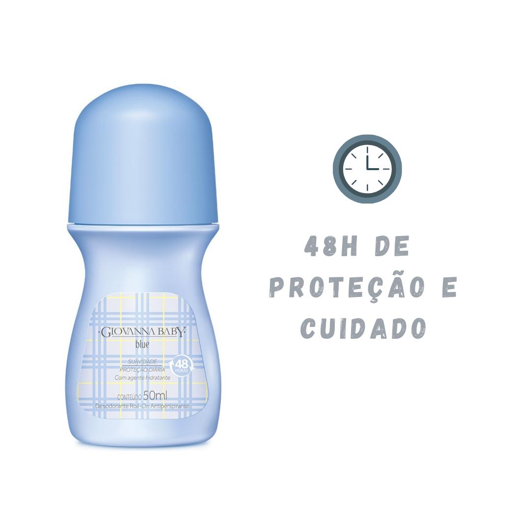Desodorante Hidratante Roll-on Giovanna Baby Blue 48h 50ml