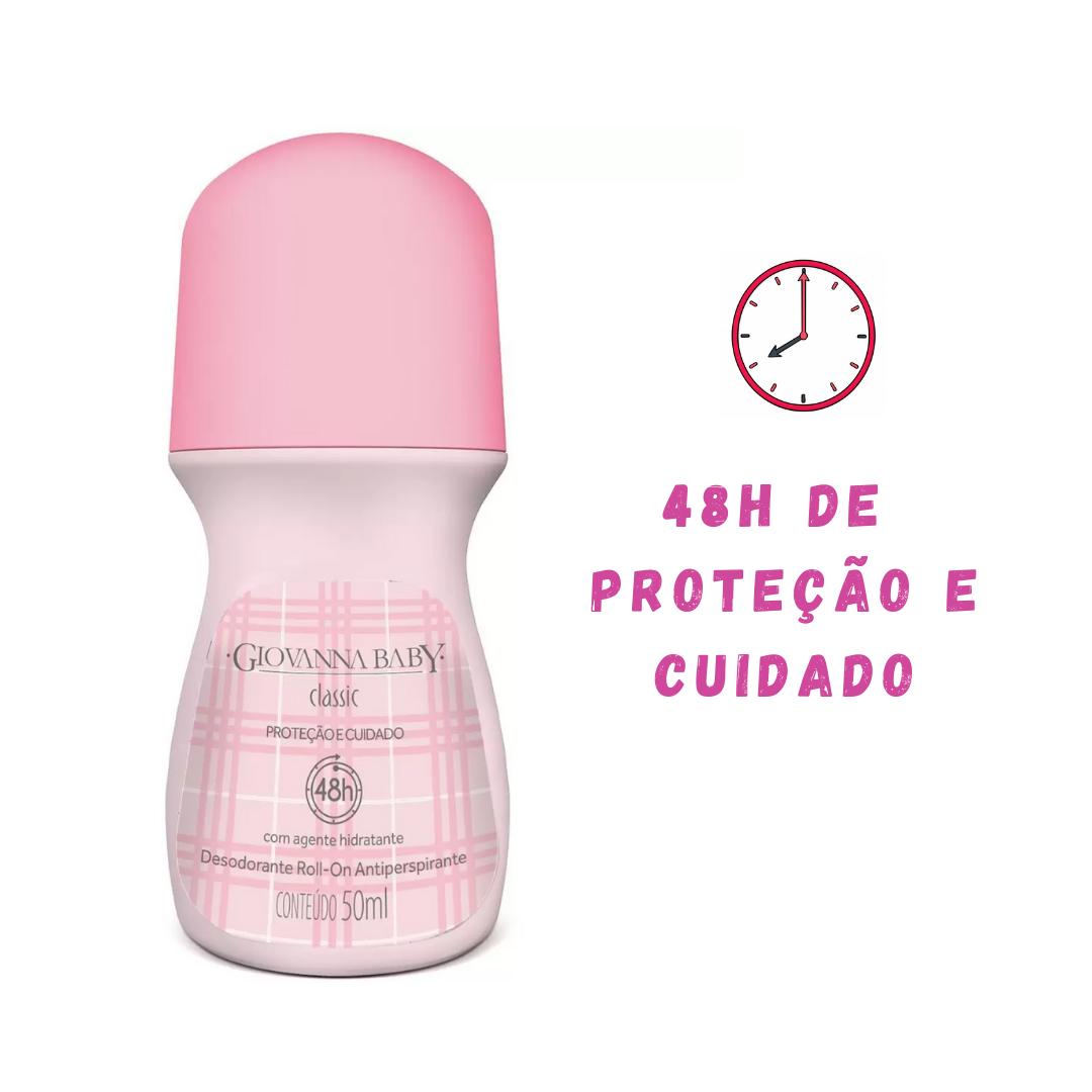 Desodorante Hidratante Roll-on Giovanna Baby Classic 50ml