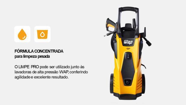 Detergente Concentrado Limpe Pro Limpeza Pesada Piso 1L WAP