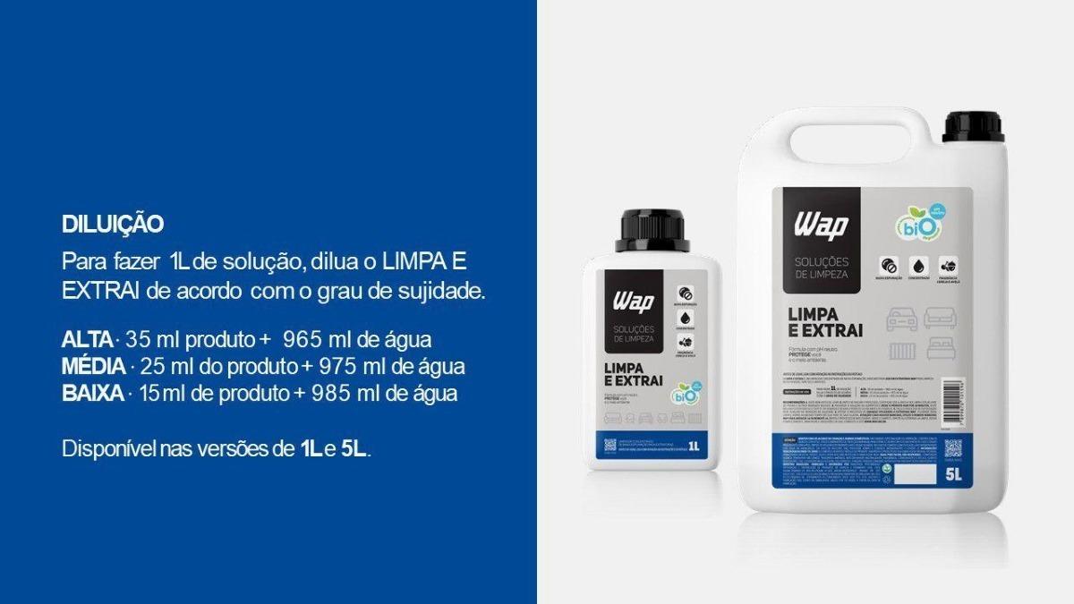 Detergente Extratoras Estofado Tapete 5 L Limpa E Extrai Wap