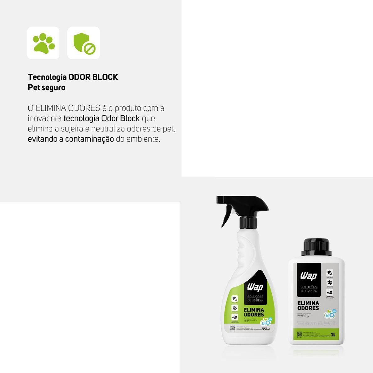 Eliminador De Odores E Pegadas Pets Odor Block 500ml Bio Wap
