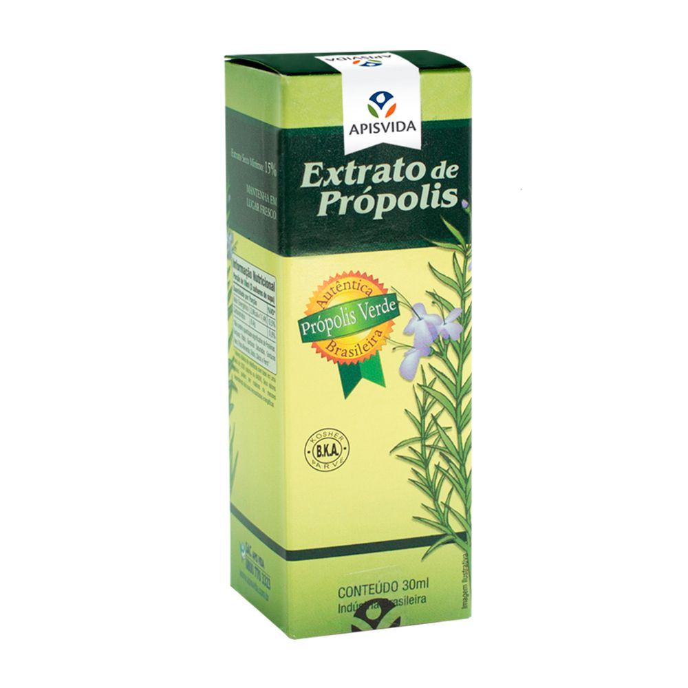 Extrato De Própolis Verde 30ml Apisvida Melhore A Imunidade