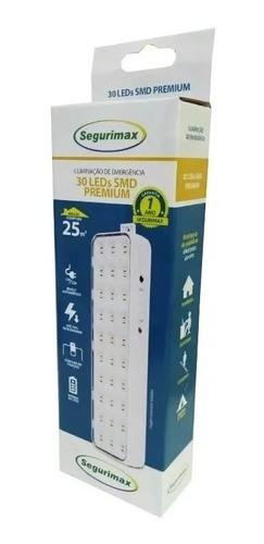 Kit 10 Lâmpada Luminária  De Emergência 30 Leds 2w