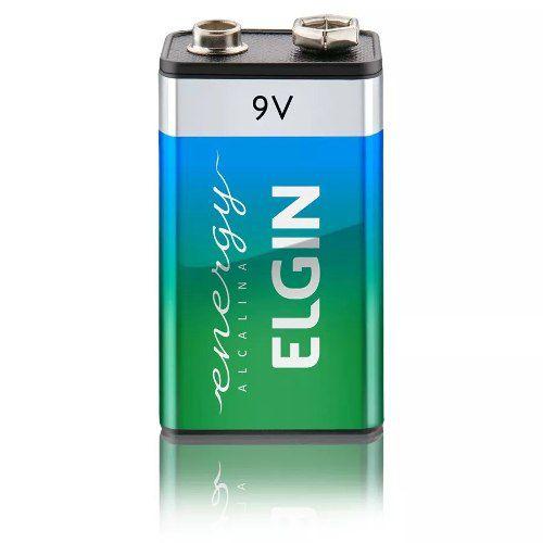 Kit 3 Baterias Alcalinas 9v Elgin 6lr61 Blister