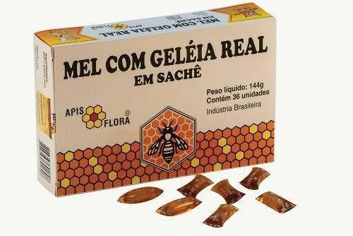Kit Com 3 Mel Com Geleia Real Sachê - Apis Flora - 36un 144g