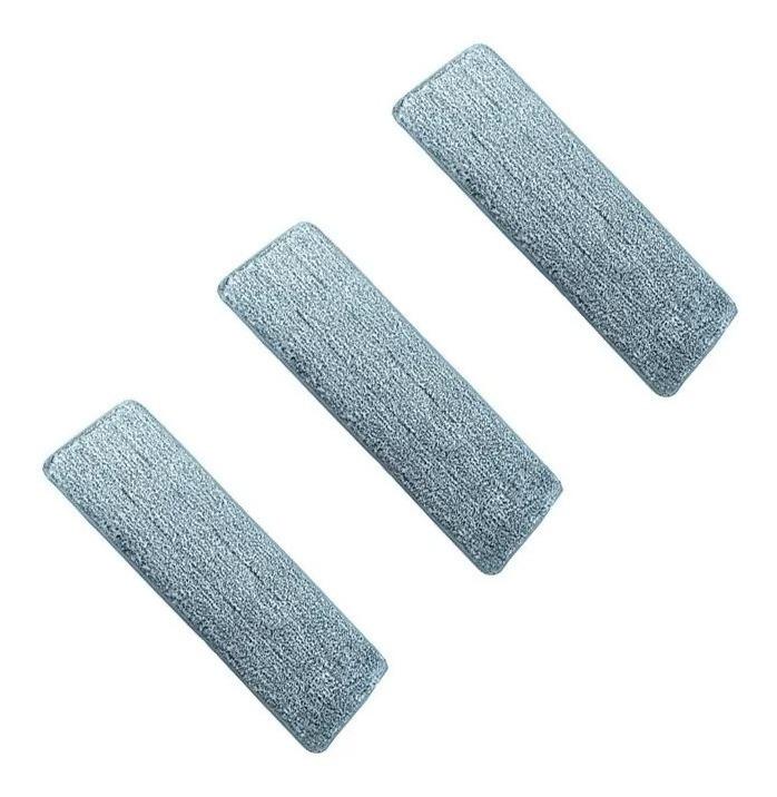 Kit Com 3 Refil Para Mop Multiuso Lava E Seca - Modelo Ls2