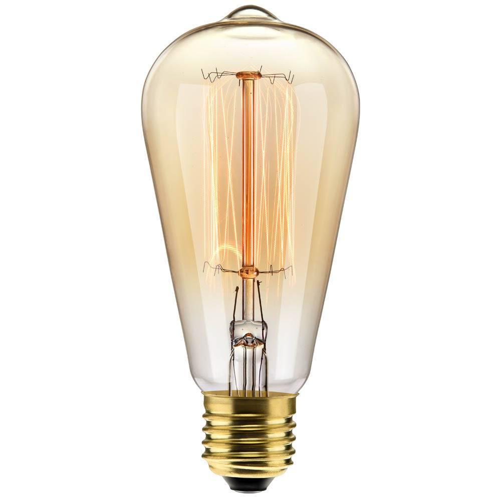 LAMPADA FILAMENTO DE CARBONO ST64 40W 127V 2000K