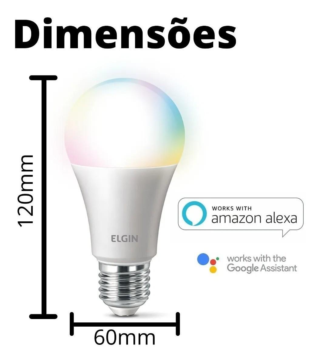 Lampada Inteligente Led Bulbo 10w Bivolt Smart Color - Elgin