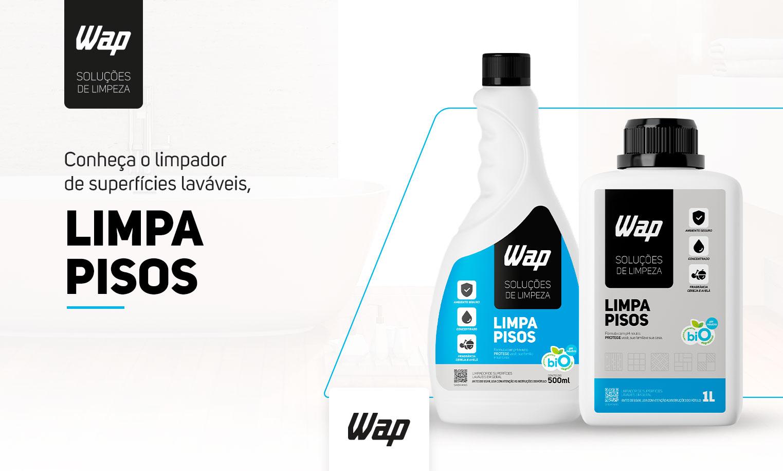 Limpa Pisos Superfícies Porcelanato Cerâmica Madeira 1L Wap