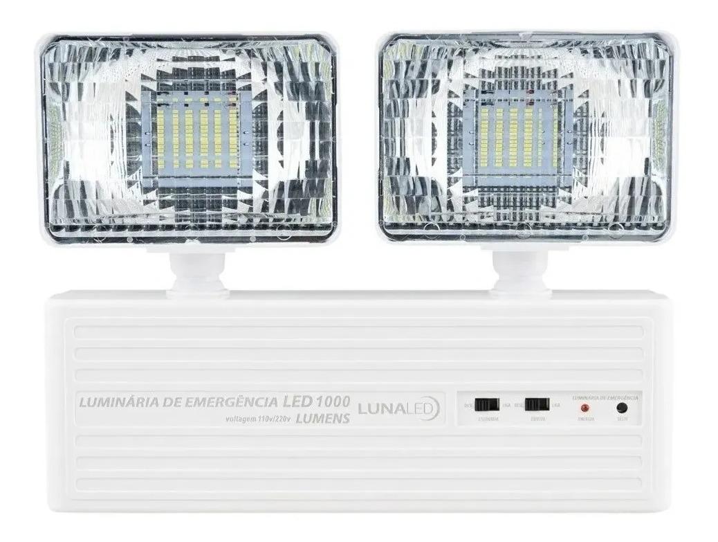 Luminária De Emergência 1000 Lumens Led Aprovada Bombeiros