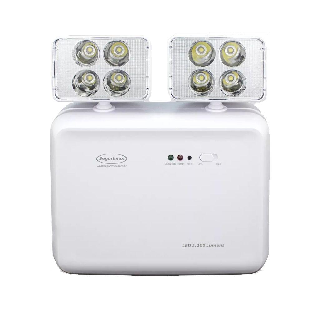 Luminária Luz De Emergência Led 2200 Lumens Modelo Novo