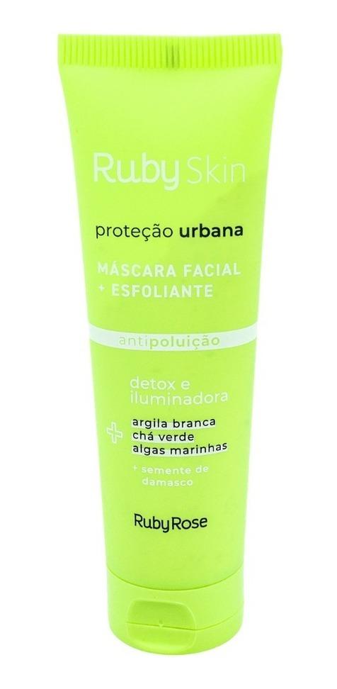 Máscara Esfoliante Ruby Rose Proteção Urbana Detox Vegano